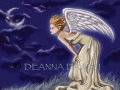 Angel of Enlightenment AngelCOPYRIGHT Angel Art Fantasy ART Print Dark Angel Moon Angel Stars Night
