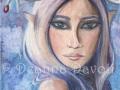 Freya Winter Goddess Art Fairy ART Print Fantasy Art Pagan Art Fairy Portrait Elf Freya