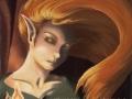 Invoking The Flame Fantasy ART Print Fairy Art Elf Fire Fairy Magic Elf Portrait Flame Pagan Gothic Art