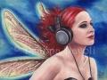 Duet 2 Headphone Fairy Art Music Fairy Red Hair Fairy Fantasy Art