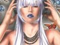 Symphonic Butterflies - Rocker Girl Headphone Girl Urban Butterfly