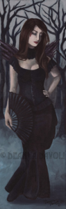 Dark September Vampire Art Print